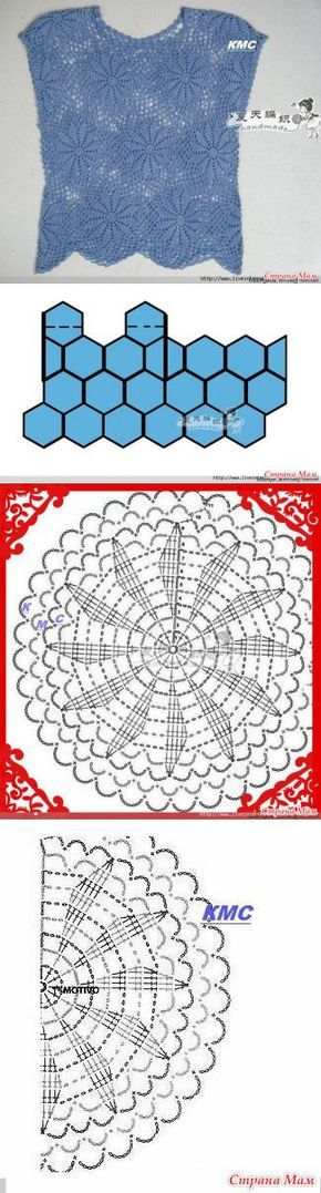 13 best Blusa crochet Finca Presencia matizados negros images on ...