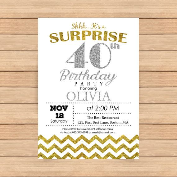 29 best invitations images on pinterest birthday party ideas 70 40th birthday invitation woman bday man bday silver by coolstudio stopboris Images