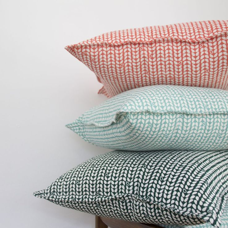 Elle Kay Fabrics Speck Cushion covers available in 3 colours. Tangerine, Duck Egg and Emerald