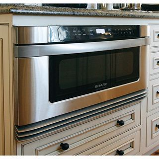 Streamline Mealtime With This 24 Inch Built In Microwave Drawer From Sharp.  With