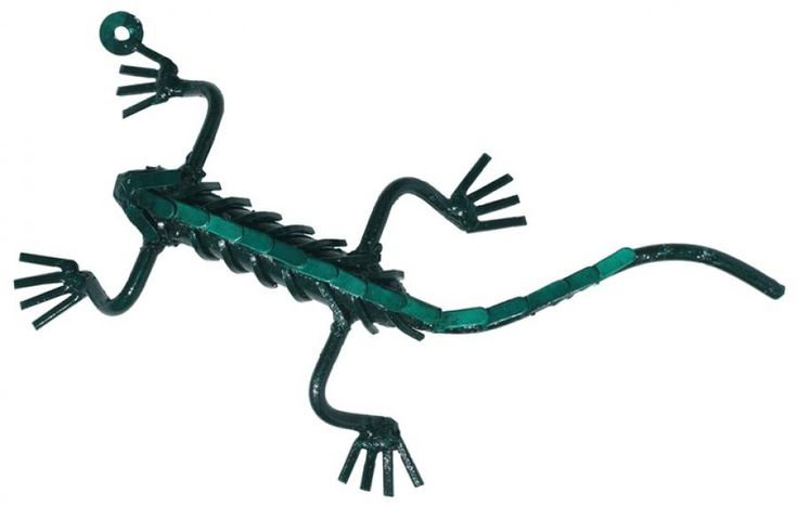 Wall mounted Green Gecko