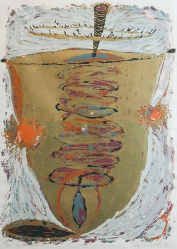 Bert Vredegoor - oranje boven - zeefdruk / #silkscreen #print #art