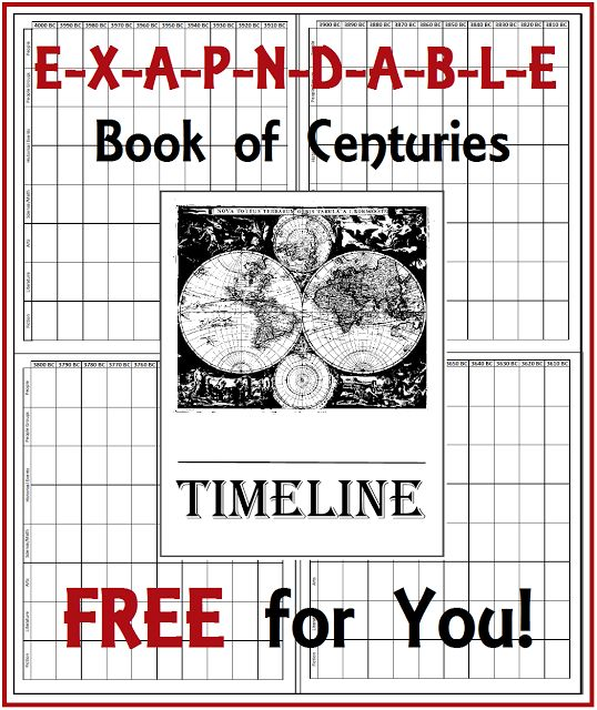Expandable Book of Centuries - A FREE Timeline for You!