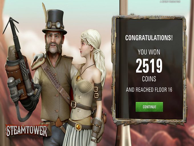 NextCasino and SteamTower win!