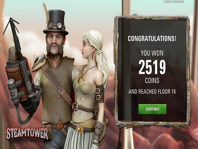 NextCasino and SteamTower win!