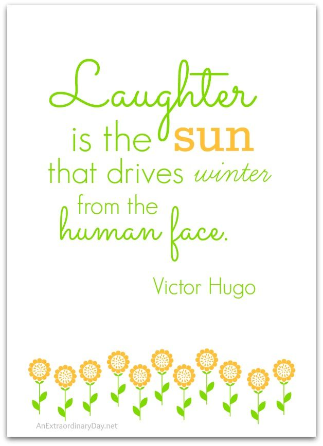 Victor Hugo Quote on Winter and Laughter :: 5x7 Printable :: AnExtraordinaryDay.net