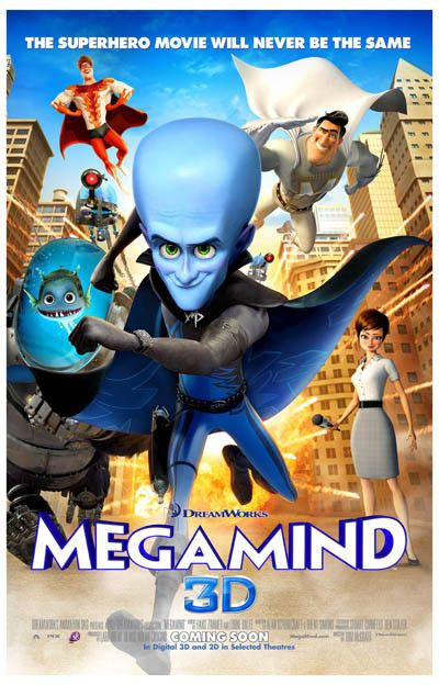 Megamind Never Be the Same Will Ferrell Movie Poster 11x17