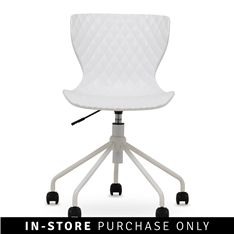 quilt office chair white