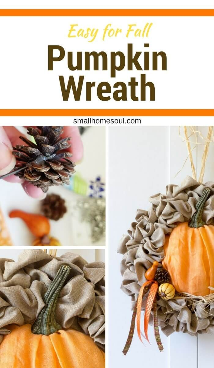 This beautiful Fall wreath is an easy fall decor update of a seasonal wreath. // Small Home Soul