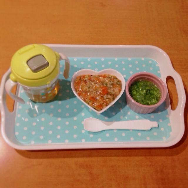 ♢マグロと人参と椎茸の餡掛け丼 ♢ブロッコリーと大根のスープ ♢麦茶 - 6件のもぐもぐ - 離乳食 by kaiton0312