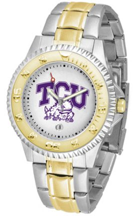Texas Christian Horned Frogs Competitor Two Tone Men's Watch