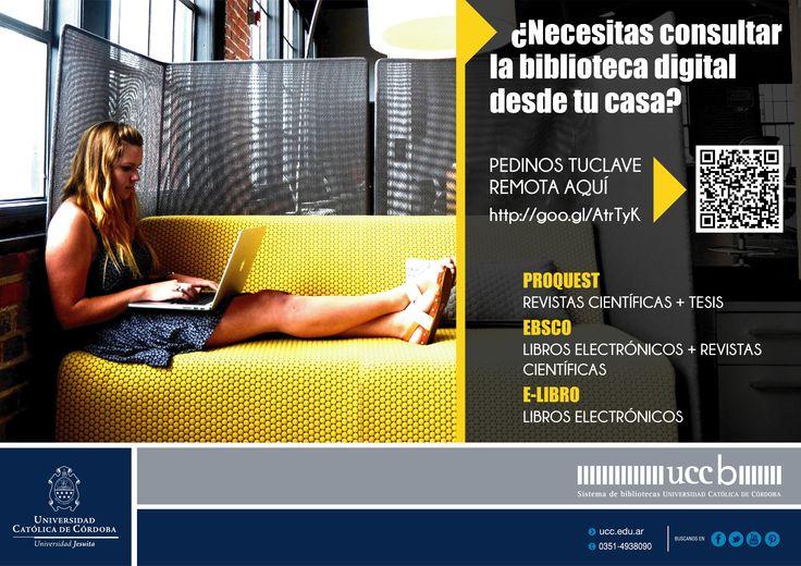+ #SERVICIOS + #bases de datos #ONLINE! Consulta la #BibliotecaDigital DESDE TU CASA!  + INFO de accesos online y bases de datos en: http://www2.ucc.edu.ar/biblioteca/biblioteca_ucc.php…