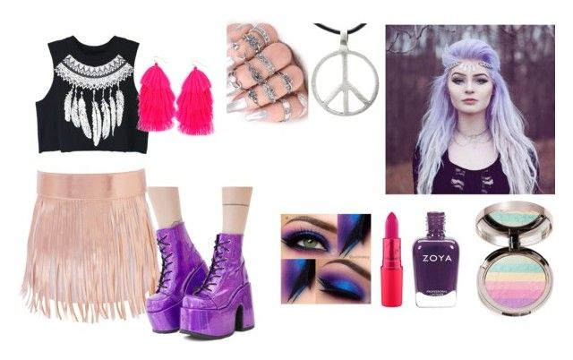 """""""Rave scene"""" by ayozimhere on Polyvore featuring Demonia, WithChic, Humble Chic and Ciaté"""