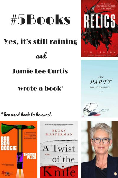Book recs for the week ending 26/3: Me, Myselfie & I, Relics, The Party, Bad Boy Boogie and a Twist of the knife. Read abotut them here: #5Books: I saw a rainbow, but ... http://editingeverything.com/blog/2017/03/27/5books-saw-rainbow/
