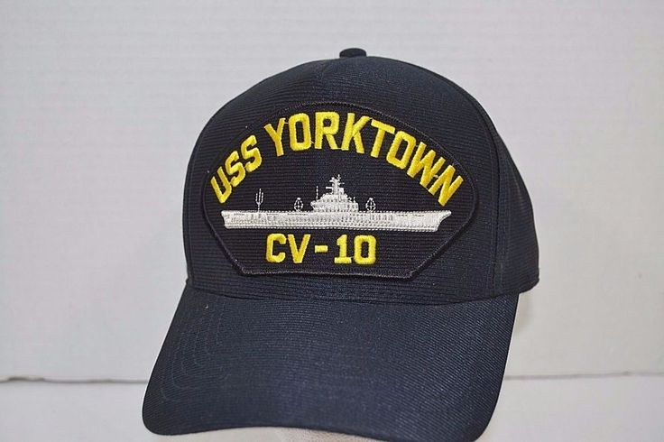 USS Yorktown CV-10 Blue Trucker Baseball Cap Snap Back
