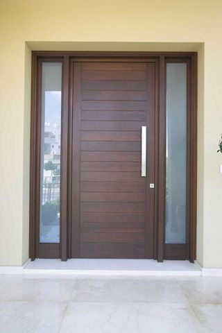 double entry doors mission style house - Google Search