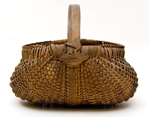 Primitive Antique Buttocks Basket