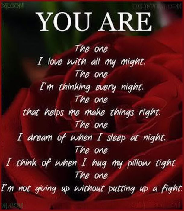 Boyfriend poems re you one the You're The