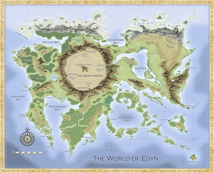Profantasy's Map-making Journal » Blog Archive » Overland Maps for Fantasy Novels