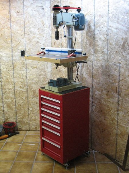 Bunk's Drill Press Table - The Garage Journal Board