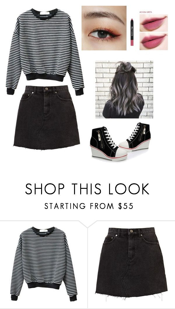 """Ulzzang girl."" by nurdalene ❤ liked on Polyvore featuring beauty"
