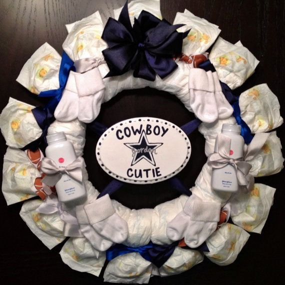 Dallas Cowboys DIAPER WREATH Any NFL Team Or By DiapersAndDoodads, $45.00