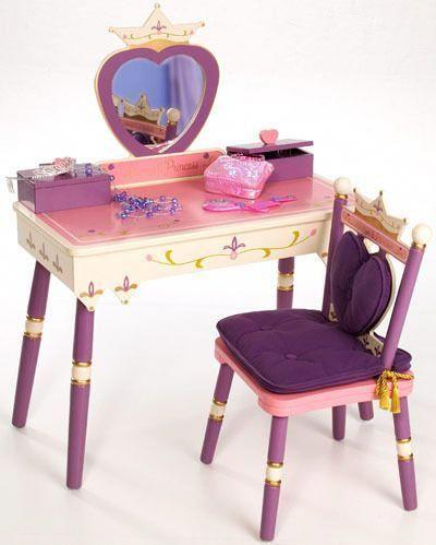 Pink Hearts Children\u0027s Vanity Table - Fun kids\u0027 furniture