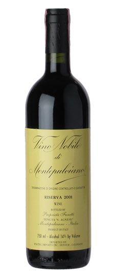 2001 Fanetti Vino Nobile di Montepulciano Riserva    Tiny vineyard, great wine. You can find a 1997 Riserva for around $30/bottle too!