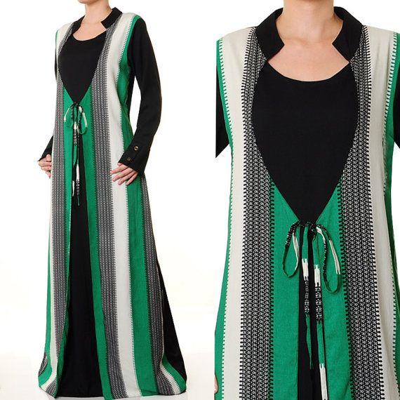 2612 Ethnic Robe Ladies Islamic Abaya Long Sleeves by MissMode21