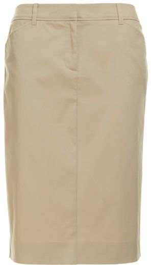 Smart casual warm taupe pencil skirt
