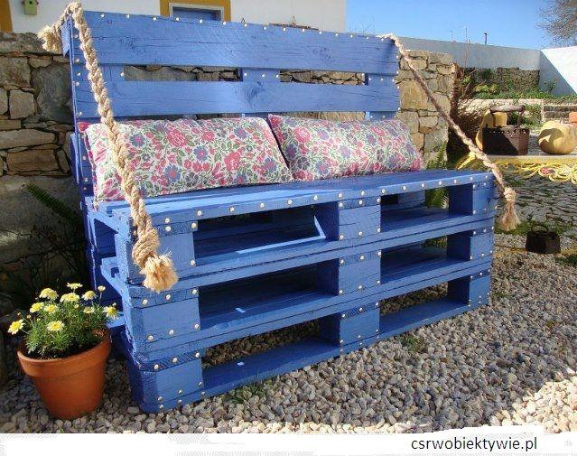 DIY Ławka ogrodowa z palet EURO