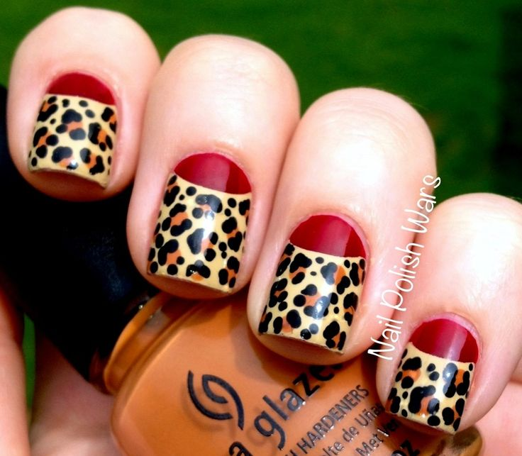 71 best leopard nails images on pinterest nail designs style leopard nails art designs leopard nail designs for beginners cute nail polish designs diy tutorial i the half moon manicure prinsesfo Choice Image