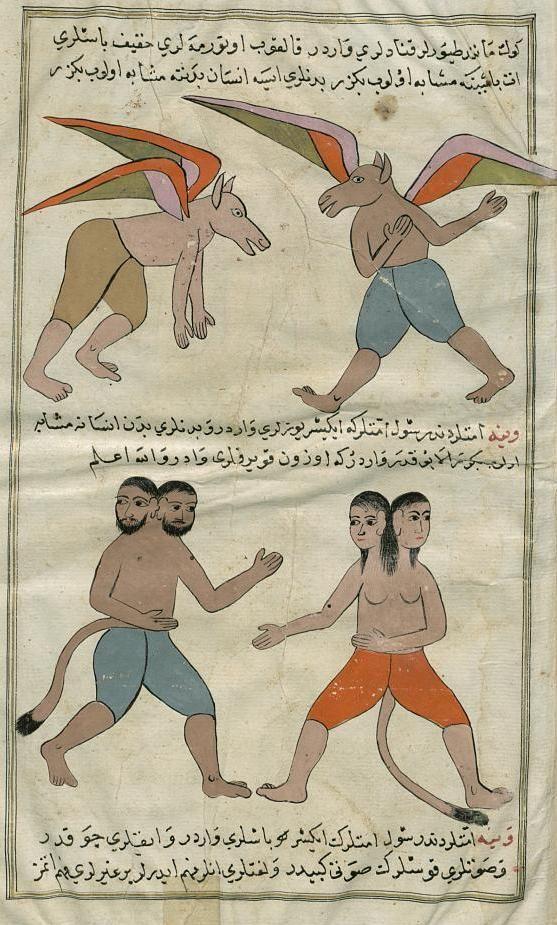 Manuscript-Adjâ'ib al-makhlûqât wa gharâ'ib al mawdjûdât, Kazvini,1703, Staatsbibliothek zu Berlin