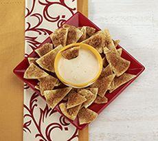 how to make baked cinnamon sugar pita chips