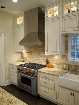 Kitchen With Brick Backsplash   Dresner Design Traditional Kitchen Www.