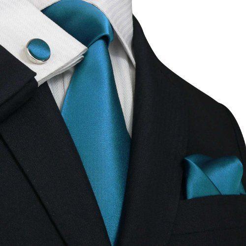Cravate Garçons Moyen - Turquoise Solide - Cran Solide Cran Essence zFkVbl16