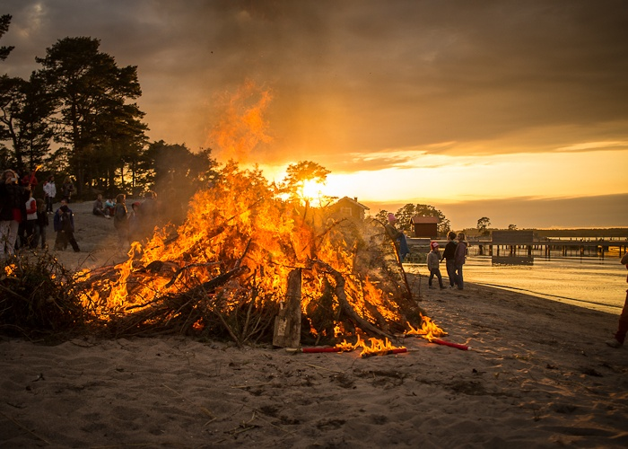 The archipelago • Sweden - Walpurgis night in Sweden with the traditional bonfire. Photo by Danne Eriksson
