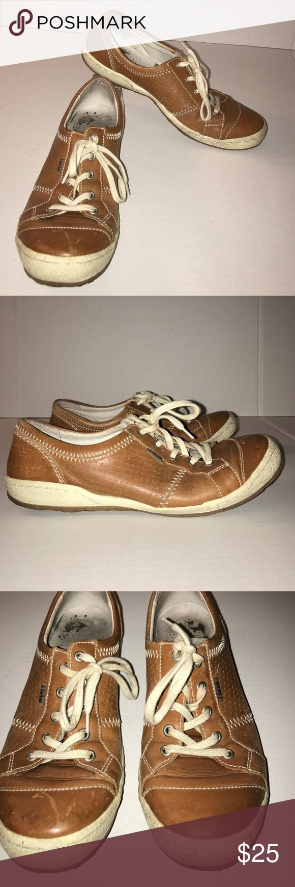 Josef Seibel Sneakers These sneakers by Josef Seibel are in good used condition. They do some some minimal wear but have no major flaws, the interior sole print has worn off. The soles are in good condition and have a ton more wear in them. These are a size 39. Josef Seibel Shoes Sneakers