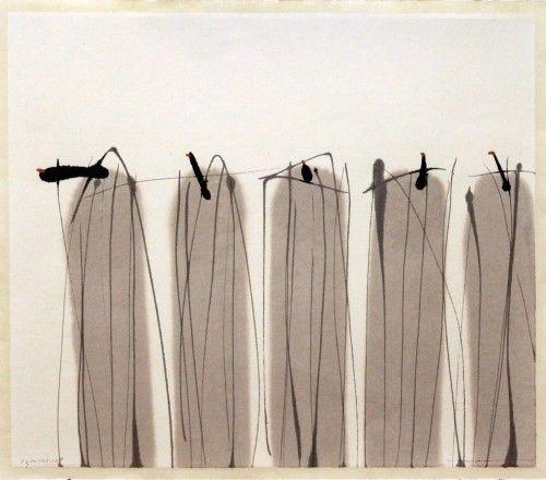 Zhou Hao  Title Abundance I  Year 2007 Medium Sumi on paper Size 28 x 31cm  via