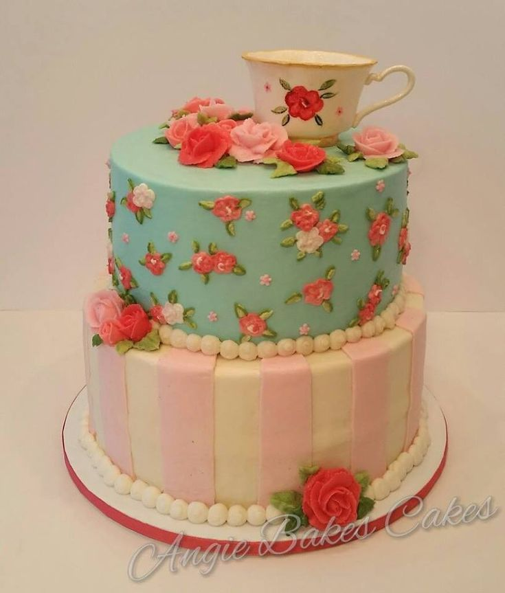 Tea Party Cake Images : 17 Best ideas about Tea Party Cakes on Pinterest Petit ...