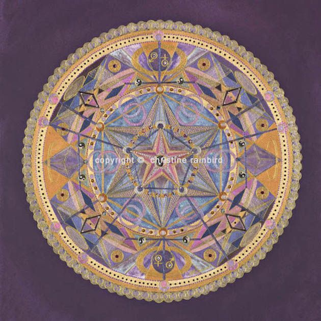 Sacred Relationship: The Sacred Geometry channelled in this Mandala holds the codes for Sacred Relationship both with the self and others. This level of relationship when combined with a sincere commitment from the individual(s) involved will result in a deeper connection on all levels, physically, emotionally, mentally and spiritually. The energies of thisMandala will support you on the journey towards this level of unity and harmony.