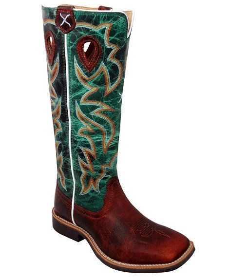 Twisted X Youth Turquoise Buckaroo Cowboy Boots - Square Toe