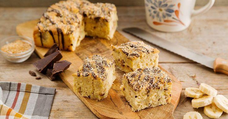 Is de smaakcombinatie banaan, kokos en chocolade glazuur je favoriet? Met deze variant cake special met chocoglazuur bak je iets heel bijzonders.
