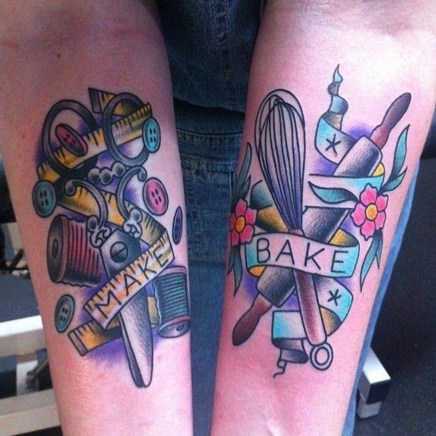 Tattoo Make Bake   #Tattoo, #Tattooed, #Tattoos