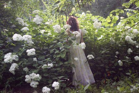 Photography: Oana Parache / Model: Daniela Varlan  #oanaparache #hydrangea #story #dreamy #ethereal #fashion #garden