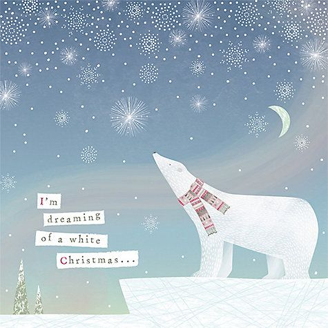 Buy Artfile I'm Dreaming of a White Christmas Charity Christmas Cards, Pack of 6…