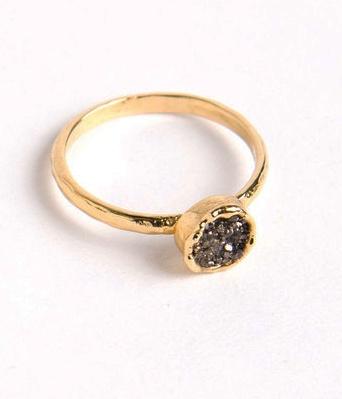 small druzy ring