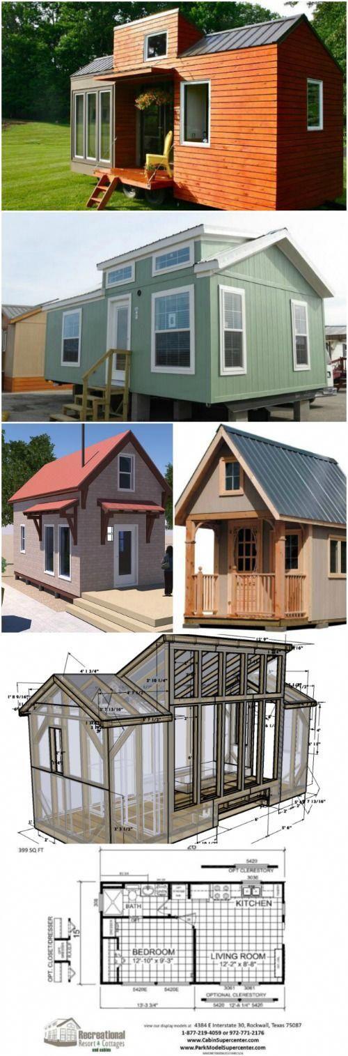 17 Machen Sie es sich selbst Winzige Häuser mit kostenlosen oder kostengünstigen Plänen – Träumen …