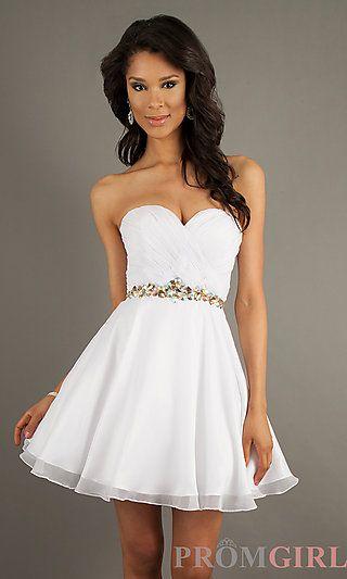 Best 25  Short white prom dresses ideas on Pinterest | Short white ...
