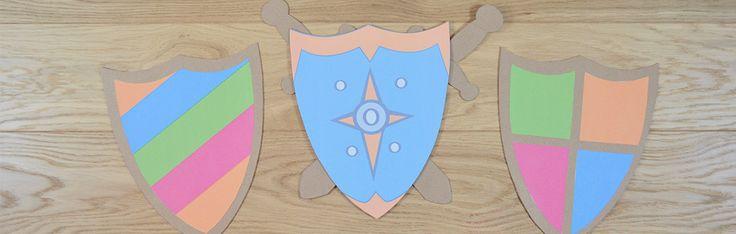 Fabriquez votre bouclier et décorez-le avec les armoiries familiales !